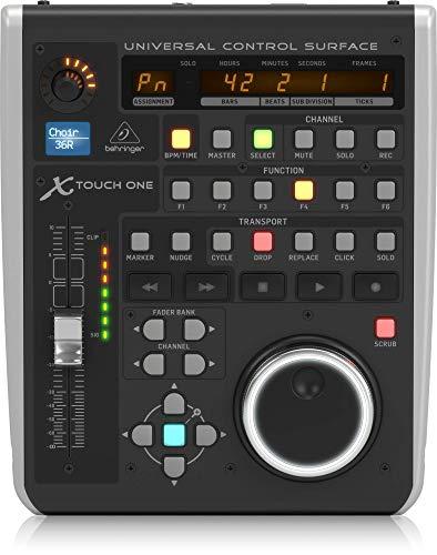 Behringer X Touch One Universal Control Oberfläche mit berührungsempfindliche Motor Fader und LCD Scribble Strip