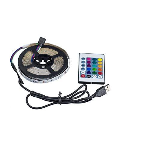 USB LED Strip lamp 2835SMD DC5V Flexible LED Light Tape Ribbon 1M 2M 3M 4M 5M HDTV TV Desktop Screen Backlight Bias Lighting (White, 1M)
