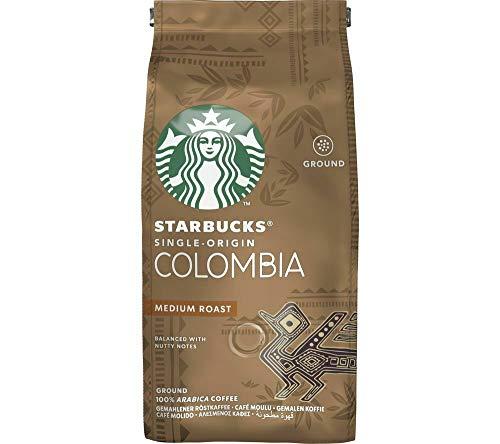 Starbucks Single-Origin Colombia Medium Roast Ground Coffee, 200g