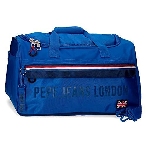 Pepe Jeans Overlap Bolsa de Viaje Azul 52x29x29 cms Poliéster 43.73L