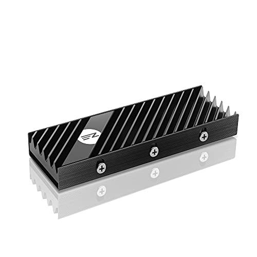 EZDIY-FAB M.2 2280 SSD Kühlkörper, doppelseitiger Kühlkörper, Hochleistungs-SSD-Kühler für PCIE NVME M.2 SSD oder SATA M.2 SSD-Schwarz