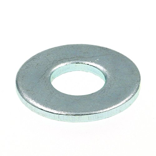 Prime-Line 9080538 Flat Washers, SAE, #8 X 7/16 in. OD, Zinc Plated Steel, 50-Pack