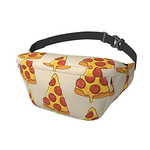 Riñonera Riñonera con Estampado de Pizza Riñonera Bandolera Mochila de Hombro Casual Bolsos en el Pecho Mochila de Cintura