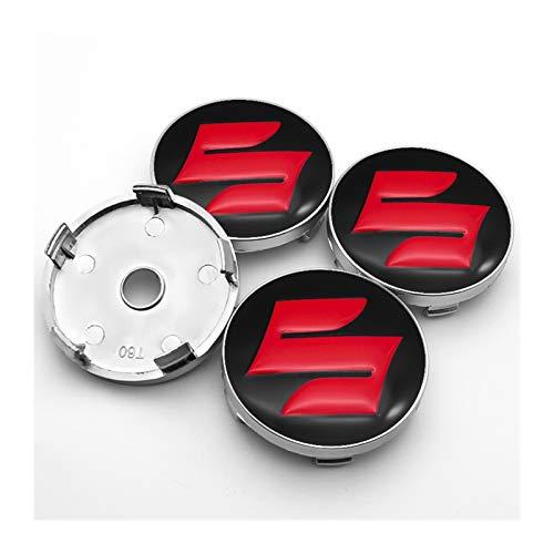 Without Radkörper Kappen Nabenkappen für Räder 4ST ist geeignet for Suzuki- Celerio Spacia Baleno 56mm 60mm + ABS-Aufkleber-Auto Nabe Kunststoff Radmitte Abdeckung Auto-Logo + Aluminium (Color : Y2)