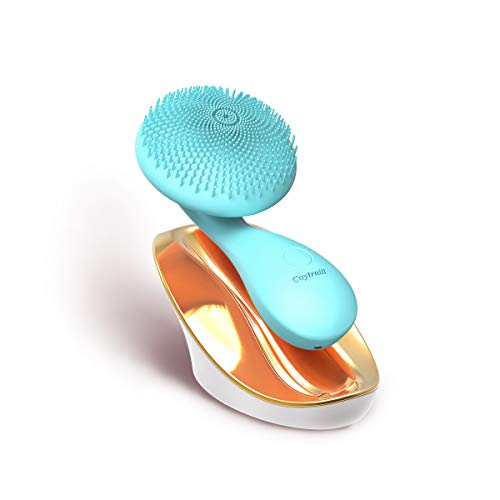 Silicone Facial Cleansing Brush,Ultrasonic Face/Body Cleanser