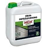 MEM Stein-Imprägnierung, Wasser- und schmutzabweisend, Schützender Abperleffekt, Lösemittelfrei, Transparent, 5 l