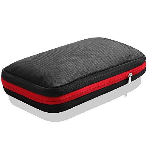 旅行用 圧縮バッグ Mサイズ ファスナーで圧縮 衣類収納バッグ トラベル 圧縮ポーチ 荷物圧縮
