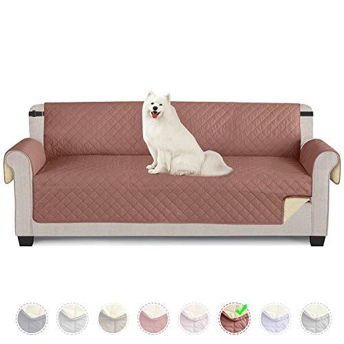 TAOCOCO Funda de sofá Impermeable Funda de cojín de protección para Mascotas Funda de sofá antisuciedad (Rojo Terracota / 4 Plazas 195 * 218cm)