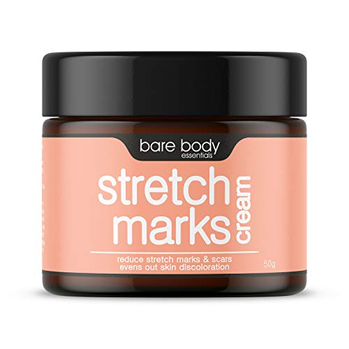 Bare Body Essentials Stretch Marks Cream, Reduce Stretch Marks, Scars, Spots and Skin Discolouration, Tone, Nourish and Tighten your Skin, Evens out and Brightens Skin, 50gm