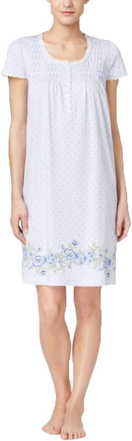 Charter Club Womens bluee Floral Night Gown, XS