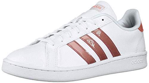 adidas Grand Court, Zapatillas Deportivas. Mujer, Blanco Raw Pink Light Granit, 40 2/3 EU