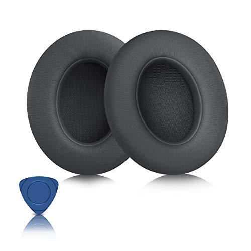ELZO Ersatz Ohrpolster für Beats Studio 2.0, Studio 3.0 Kopfhörer, Premium Kunstleder Kopfhörer Ohrpolster Ersatz Kit für Beats Headphones, Dunkelgrau