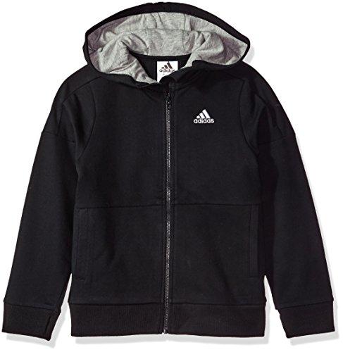 adidas Boys' Little Athletics Jacket, Black, 7X