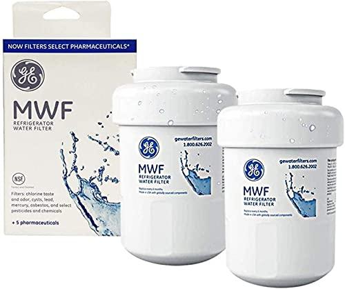 CLANORY - Filtro de agua MWF para filtro de agua para frigorífico GE compatible con GE SmartWater MWF, MWFINT, MWFP, MWFA, GWF, GWFA (paquete de 2)
