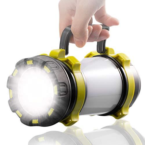 Camping Lampe,SONVIEE Dimmbare Handscheinwerfer Zeltlampe Taschenlampe Aufladbar Notfalllampe Akkulampe Laterne Suchscheinwerfer Zeltlichter 6 Modi 3600mah Powerbank für Nachtfischen,Angeln,Wandern