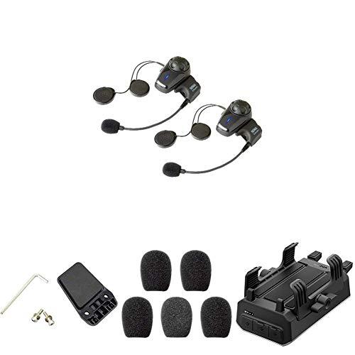 For Sale! Sena 10S-01D Bluetooth-Headset und Sprechanlage + SC-HR-01 Handlebar Remote + SC-A0109 Mik...