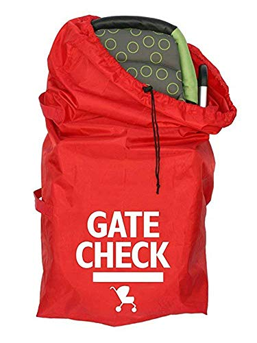 Gate Check Travel Bag, Car Seat Bag with Webbing Handle for Strollers, Pram, Car Seats, Pushchairs, Boosters, Infant Carriers, Great for Airplane and Storage, Red #CRC-001