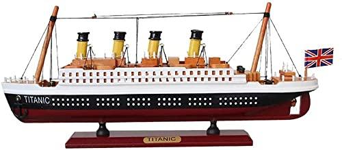 WENJZJ Decoración Retro Modelo Titanic Decorar Barco Terminado Velero de Madera Simulación Crucero Accesorios de decoración del hogar 34m