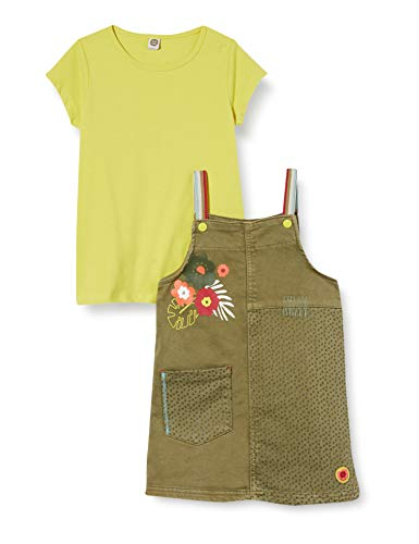Tuc Tuc Conjunto Pichi Denim Y Camiseta Punto NIÑA Verde Tropical Jungle