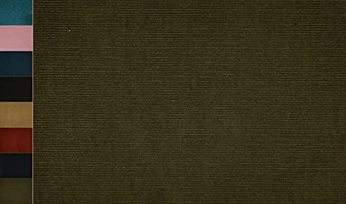 Stoffbook Tela elástica de algodón cord, E319 (verde oscuro)