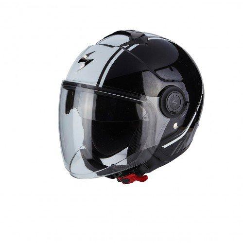 SCORPION Casque Motocorpion EXO CITY AVENUE, Noir/Blanc, Taille L