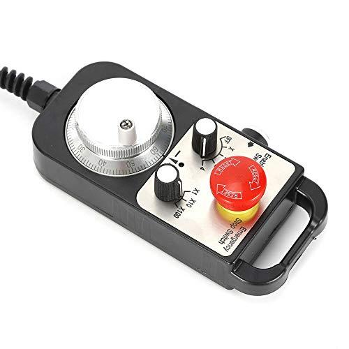 Rueda de mano electrónica CNC 5 V 100PPR CNC 4 ejes MPG remolque electrónico CNC máquina fresadora remolque, rueda de mano y apagado de emergencia