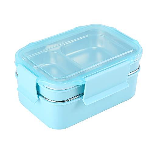 HUAFA Bento Box, Praktische Lunchbox Box für Kinder und Erwachsene, auslaufsicher Brotdose, Ideal für Schule, Picknicks, Reisen (Blau)