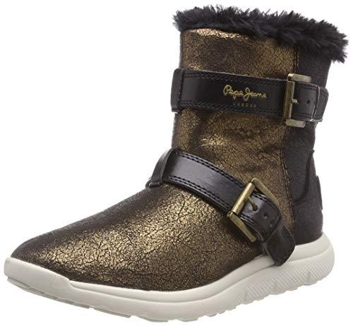 Pepe Jeans London Hyke W Snow, Botas de Nieve Mujer, Dorado (Gold 099), 36 EU