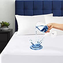 2-Pack Twin Size Waterproof Mattress Protector, Premium Hypoallergenic Waterproof Mattress Cover, Breathable, Noiseless, Machine-Washable Bed Cover with 21