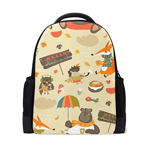 FANTAZIO - Abalorios para mochila, diseño de zorro y búho