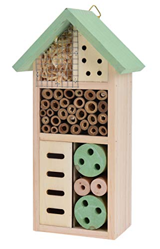 made2trade Robustes Insektenhotel aus Naturholz - 13x8.5x26cm