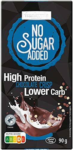 frankonia CHOCOLAT NO SUGAR ADDED High Protein Lower Carb Chocolate Crisp, 90 g