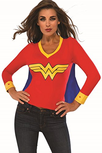 Rubie's Women's DC Superheroes Wonder Woman Sporty Tee, Multi, Large