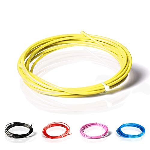 ActiveVikings Springseil Ersatzkabel PVC Schutzmantel mit 2mm Stahlseil | Ersatzseil ist kompatibel mit Anderen Marken (Gelb)
