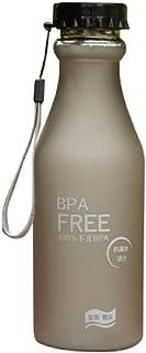 FANSHONN 550ML Unbreakable Outdoor Sports Travel Portable Leak-Proof Water Bottle