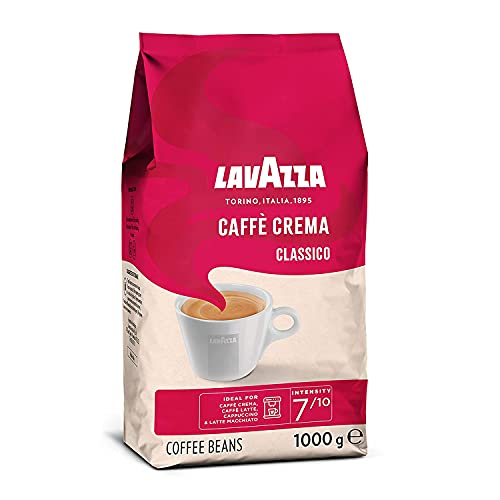 Lavazza Caffè Crema Classico, 1 kg-Packung, Arabica und Robusta, Mittlere Röstung