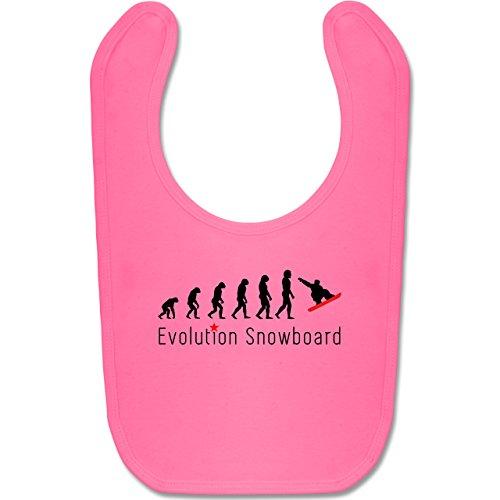 Shirtracer Evolution Baby - Evolution Snowboard Sprung - Unisize - Pink - Darwin - BZ12 - Baby Lätzchen Baumwolle