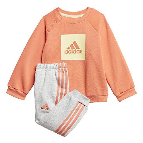 adidas Baby I 3 Streifen Logo Sportanzug Kinder, Semcor/Yeltin, 92