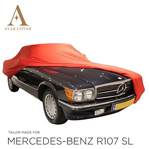 AUTOABDECKUNG ROT PASSEND FÜR Mercedes-Benz R107 SL INNEN SCHUTZHÜLLE ABDECKPLANE SCHUTZDECKE VOLLGARAGE Cover
