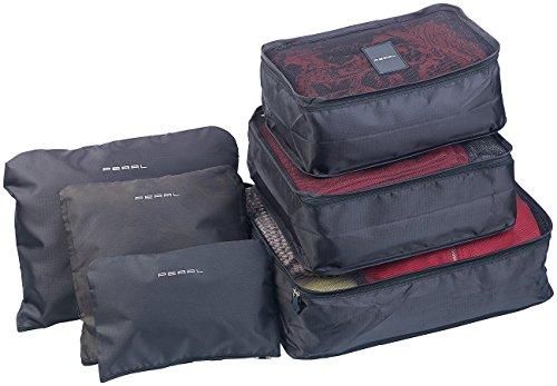 PEARL Koffer Organizer: 6er-Set Kleidertaschen für Koffer, Reisetasche & Co, 6 Größen (Koffer Organizer Set)