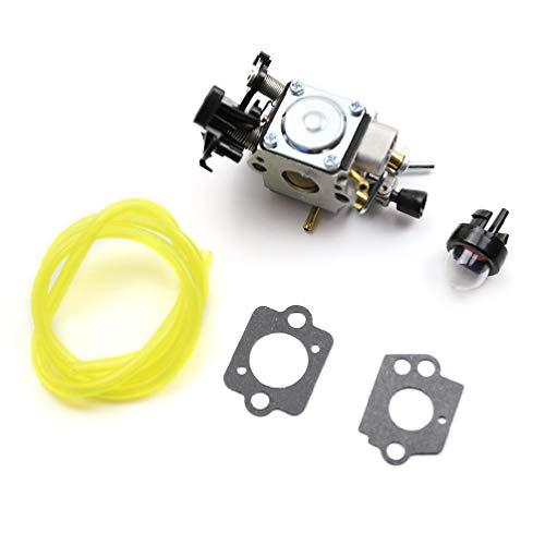 RUI - K25 Kit de carburador para 445450445 E 450E 450Ii C1M-EL37B 506450401 Juntas Bombilla de imprimación de línea de Combustible Cabezal de Corte de Acero de 6 Cuchillas
