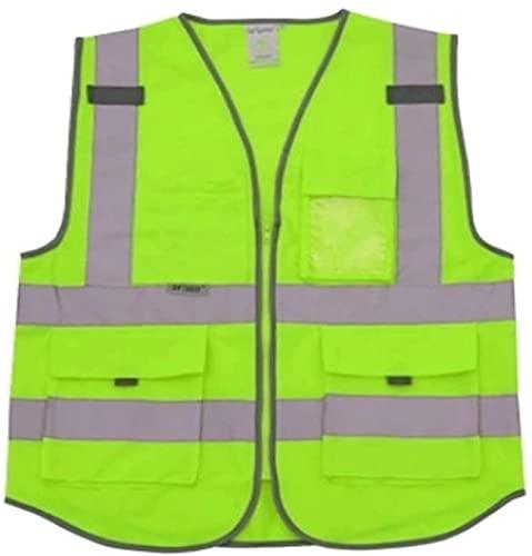 PATAWFFF Chaleco de seguridad Chaleco reflexivo de alta visibilidad advertencia chaleco advertencia chaleco múltiples bolsas y ropa de trabajo ropa de seguridad día noche noche ciclismo advertencia de