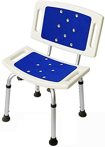 ZXY-NAN Bathroom Wheelchairs Stools Stool Safety Comfort Backrest Stable Durable Bath Chair Elderly/Handicapped/Pregnant Adjustable Height Aluminum Alloy Bath Stool Antislip Chair Max. 180kg
