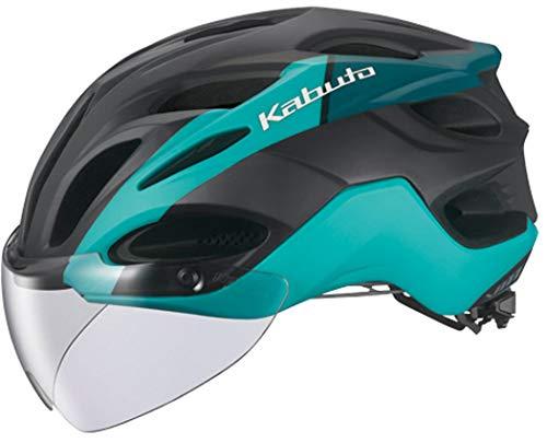 OGK KABUTO(オージーケーカブト) VITT(ヴィット) 専用シールド付 ヘルメット [G-2マットターコイズ S/M]