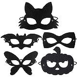 BESTOYARD Halloween Filzmaske Maskerade Masken 20 stücke Kostüm Zubehör Party Favors Supplies...