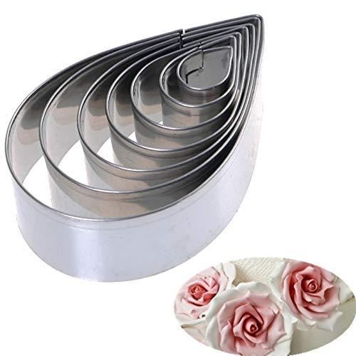 BINGFANG-W Forma floral Cortadores de galletas de acero inoxidable Conjunto para fondant Candy Design y Decoración de pasteles 4 Conjuntos Cortadores de pastel de acero inoxidable Ostentación