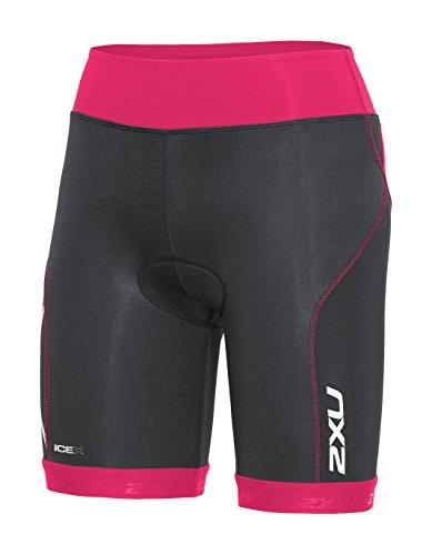 2XU Damen Compression Tri Shorts Triathlon Hose, Ink/Chp, S