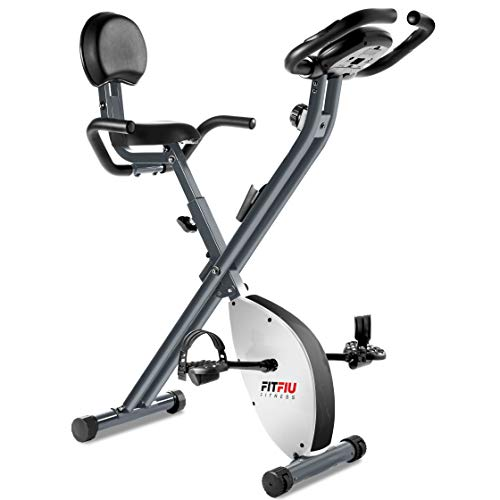 FITFIU Fitness BEST-220 Bicicleta Estática plegable con respaldo regulable