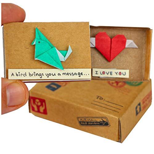 immi Origami - Mini regalo sorpresa de pájaro y corazón (3XU)