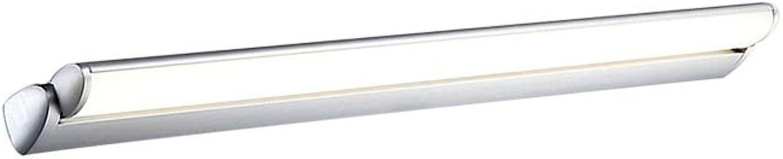 J.SUNUN Spiegellampen, Spiegelleuchte modernes Badleuchte LED Wandleuchte Acryl wasserdicht Beleuchtung Bad ohne Schalter 220V (Farbe   Weies Licht, Gre   50cm 10W)
